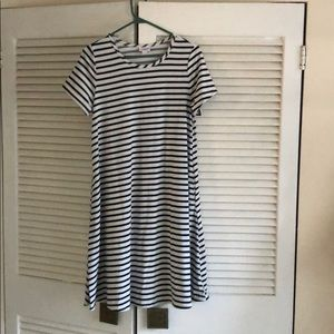 LuLaRoe Jessie black and white striped swing dress